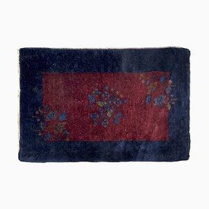 Alfombra china Art Déco vintage tejida a mano, años 20