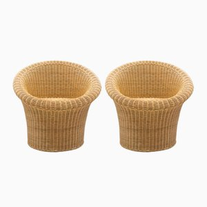 Vintage Rattan Chairs, 1960s, Set of 2