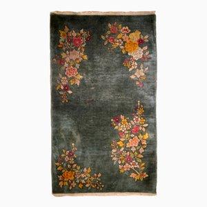 Tapis Art Déco Vintage Fait à la Main, Chine,1920s