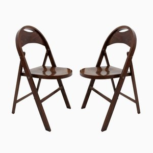 Chaises Pliables Bauhaus B 751 de Thonet, 1930s, Set de 2