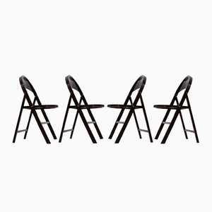 buy side chairs for thonet at pamono 1920 Art Deco Cartoon bauhaus b 751 folding chairs from thonet 1930s set of 4