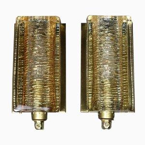 Dänische vintage Atlactic Wandlampen von Vitrika, 2er Set