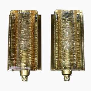 Vintage Danish Atlantic Wall Lamps from Vitrika, Set of 2