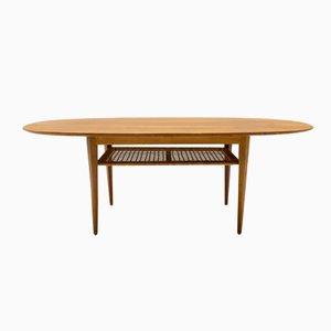 Table Basse Ovale Mid-Century, 1950s