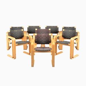 Mid-Century Braided Chairs by Rud Thygesen & Johnny Sørensen for Magnus Olesen, Set of 8