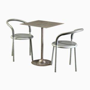 Mesa vintage de metal y dos sillas de Niels Gammelgaard & Lars Mathiesen