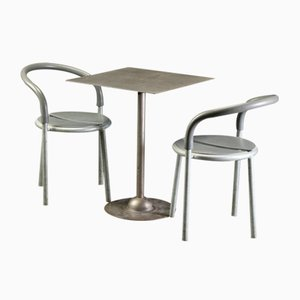 Vintage Metal Table & 2 Chairs by Niels Gammelgaard & Lars Mathiesen