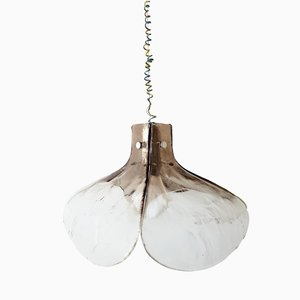 Mid-Century Frosted Glass Ceiling Light by J. T. Kalmar for Franken KG, 1960s