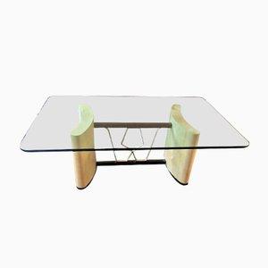 Table Basse Art Déco en Parchemin, Italie, 1930s