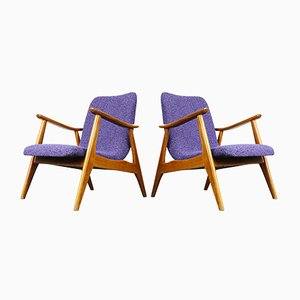Teak Lounge Chairs by Louis van Teeffelen for WéBé, Set of 2