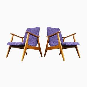 Teak Lounge Chairs by Louis van Teeffelen for WéBé, Set of 2