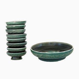 Juego de cuencos de cerámica de Tapis Vert, años 50