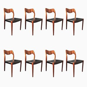 Model 71 Armchairs by Arne Hovmand Olsen, Set of 8