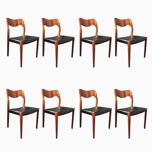 Model 71 Dining Chairs by Arne Hovmand Olsen, Set of 8