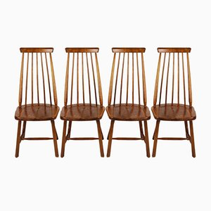 Dutch Spindle Back Chairs from Pastoe, 1960s, Set of 4