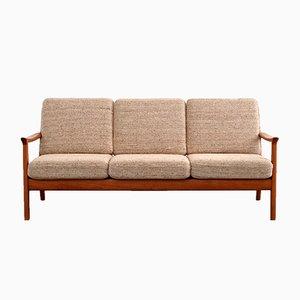 3-Sitzer Teak Sofa von Juul Kristensen, 1960er