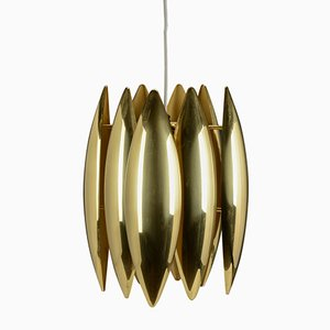 Kastor Brass Wall Light by Jo Hammerborg for Fog & Mørup