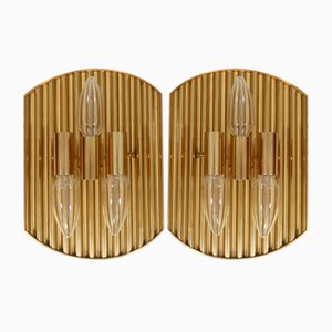 Vintage Danish Brass Sconce, 1950s