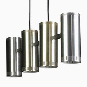 Lampe à Suspension Trombone Mid-Century par Johannes Hammerborg pour Fog et Mørup