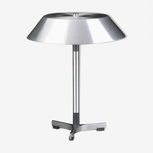 Aluminium President Table Lamp by Johannes Hammerborg for Fog & Mørup, 1960s