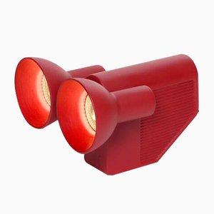 Lámpara Olo en rojo de Jean Baptiste Fastrez para Moustache, 2018