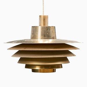 Lampe à Suspension Verona Mid-Century par Svend Middelboe pour Nordisk Solar