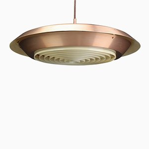 Vintage Copper Pendant Lamp from Lyfa