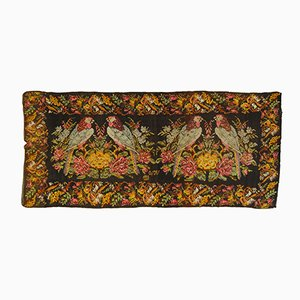 Kilim Karabakh Rug with Hand-Knotted Parrots, 1923