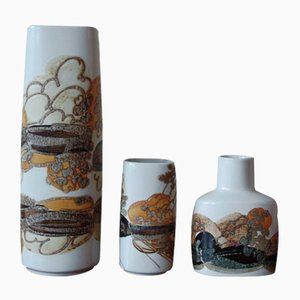 Jarrones daneses de cerámica de Ivan Weiss para Royal Copenhagen, años 60. Juego de 3