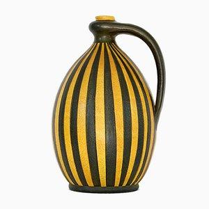 Brocca in ceramica con fantasia geometrica di Wilhelm Kagel, anni '50
