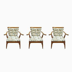 Armchairs by Anna Lülja Praun, 1960s, Set of 3