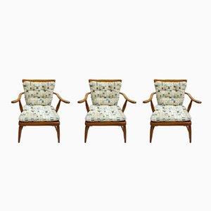 Armchairs by Anna Lülja Praun, 1960s, Set of 3