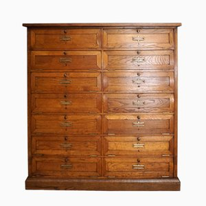 Antique French Oak Cabinet with Drop Down Doors
