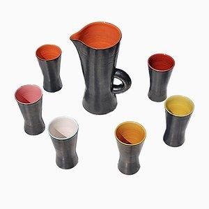 Kanne mit 6 Tassen von Pol Chambost, 1972