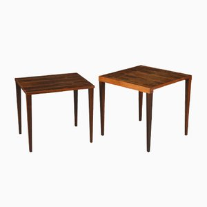 Vintage Square Coffee Tables from Heltborg, Set of 2