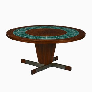 Round Rosewood Coffee Table, 1960s