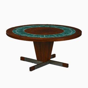 Tavolino da caffè rotondo in palissandro, anni '60