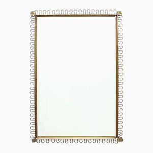 Belgian Brass Mirror, 1950s
