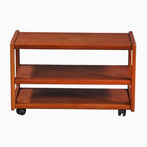 Mid-Century Teak Coffee Table on Casters from Salin Nyborg