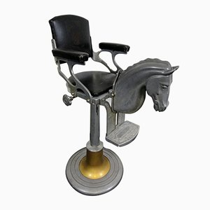 Vintage Italian Barber Children's Chair with Horse, 1950s