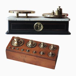 Antique French Apothecary Scale and Weights from J. Masson, Saint Quentin