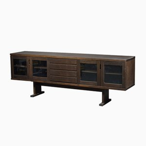 VIntage Dark Oak Sideboard
