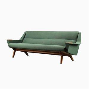 Sofá de tres plazas danés vintage de roble