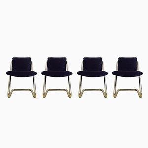 Italienische vintage Stühle, 1970er, 4er Set