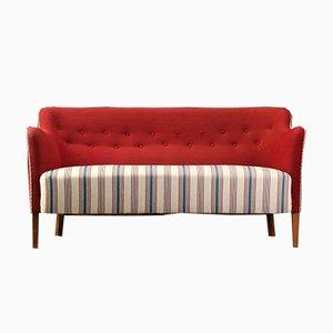 Vintage 2-Sitzer Sofa mit Wollbezug