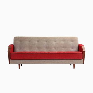 Vintage Danish 3-Seater Sofa Bed