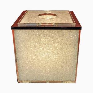 Lampada da tavolo cubica, anni '70