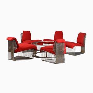 Mid-Century Pantonova Lounge Set von Verner Panton für Fritz Hansen