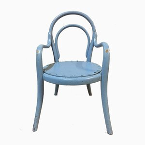 Antique Curved Wood Children's Chair in the Style of Michael Thonet