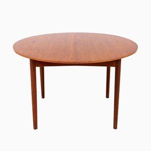 Table de Salle à Manger Vintage Circulaire en Teck de Brande Møbelindustri